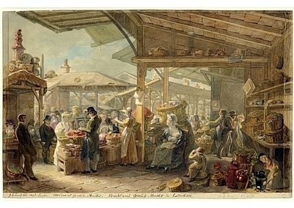 Old-Covent-Garden-Market,-1825