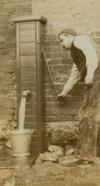 Old pump 1910 detail