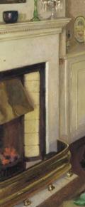 Harold_Harvey_The_red_silk_shawl_1932 detail