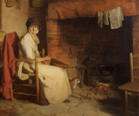 Wench a_cottage_interior_william_redmore 2
