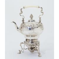 Tea wter kettle on stand 1753