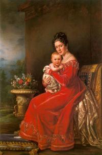 Königin-Pauline-Württemberg-wearing-a-Kashmir-Paisley-Shawl-by-Joseph-Karl-Stieler-ca.-1825.-She-was-born-a-Württemberg-and-married-a-Württemberg.-She-is-holding-her-son-Karl-who-married-Grand-Princess-Olga.-673x1024