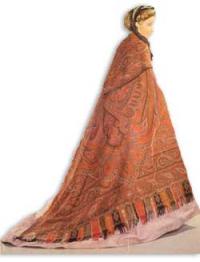 Wench cashmere shawl with crinoline skirt 1865 -4