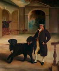 Mr-pares-coachman-with-a-newfoundland-dog
