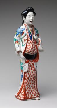 Edo 1670 to 1690 Porcelain with overglaze polychrome enamels export ware