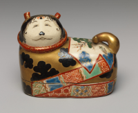 Incense box in shape of dog Japan 1840
