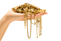 Hand w jewels bought as shutterstock_118640449